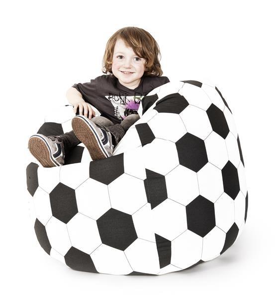 Sitzsack Fussball XL schwarz