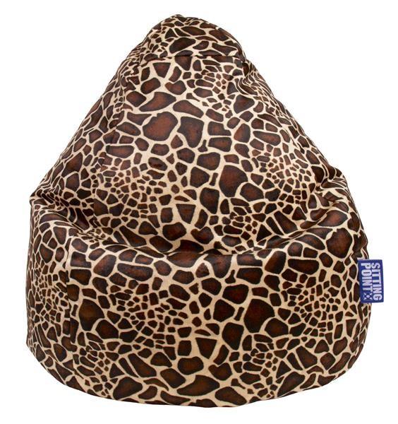 Sitzsack Afrika XXL mittelbraun (Giraffe)