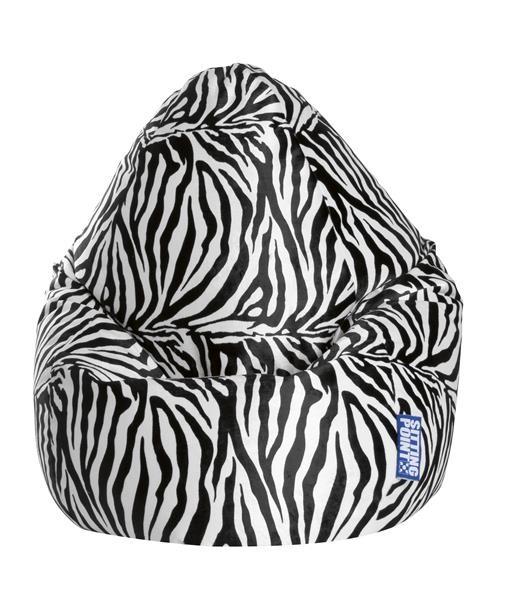 Sitzsack Afrika XXL schwarz (Zebra)