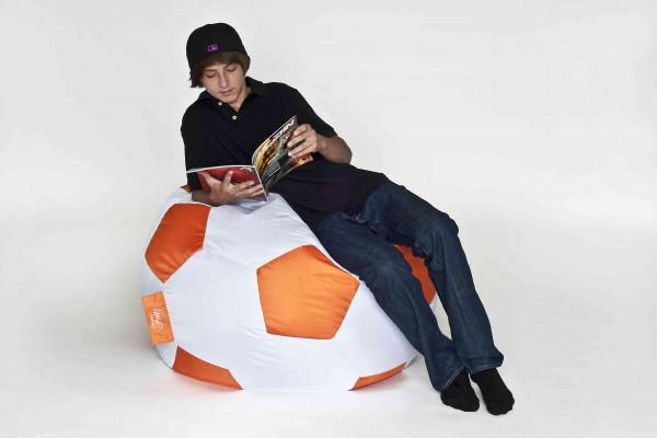 Fritz-Sitzsack Fussball orange